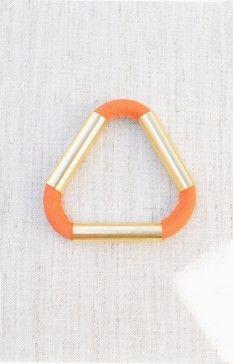 FAUX/real Don't Give Up Bracelet, Orange