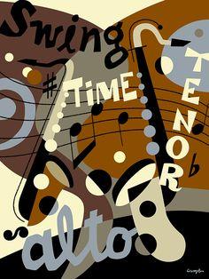 Music poster by Michael Crampton.