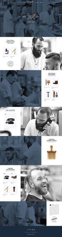 Wow! Doesn't this sleek web design make you feel as if a haircut can make you look like a fine gentleman? It's amazing how a simple website can make us feel this way. Do you want to reciprocate these feelings to YOUR customers? We at Website Growth want to help!