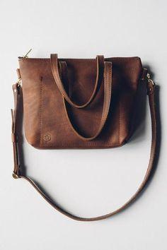 hustle & hide co // the ren tote in kodiak brown