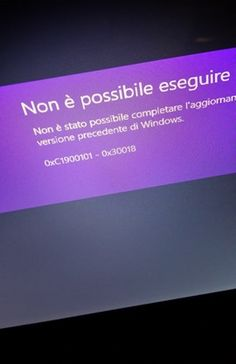 Aggiornamento da Windows 8 pro a 8.1 fallito error 0xc1900101-0×30018