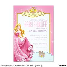 Disney Princess Aurora It's a Girl Baby Shower 5x7 Paper Invitation Card