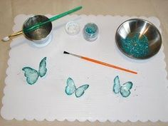 Gelatin butterfly tutorial.