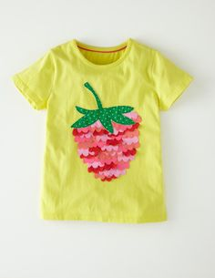 The perfect shirt for strawberry picking! @BodenClothing Ruffle Appliqué T-shirt Sunglow Strawberry