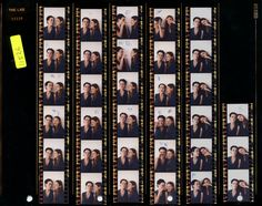 Kate Moss and Fran Contact Sheet. Photo by Corinne Day, influential fashion photographer in early 1990s