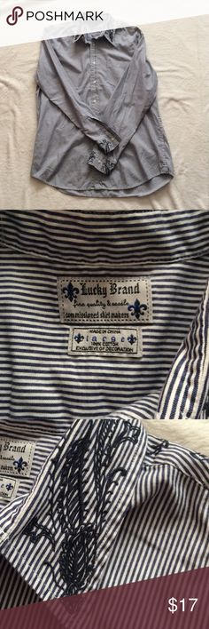 Lucky Brand Button Down Shirt, Size Large This shirt is in excellent shape. Lucky Brand Shirts Casual Button Down Shirts