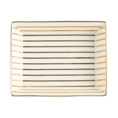 Keep your jewelry at the ready in this pretty painted ceramic tray. JCREW $19.50