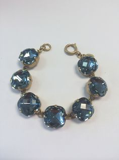 """Antique, 14K, gold plated or """"old silver"""" over a copper base bracelet is approximately 7 3/4"""". The Swarovski Crystal comes in numerous colors and three sizes. Due to the handcrafted nature of this product, each item may vary slightly. Every piece has hand cut crystals that will vary slightly in color and inclusions, making every piece truly unique."""