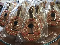 Guitar cookies for an Elena of Avalor themed birthday party