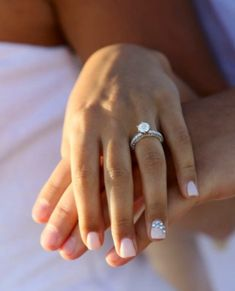 Sparkly engagement manicure!