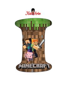 EUGENIA - KATIA ARTES - BLOG DE LETRAS PERSONALIZADAS E ALGUMAS COISINHAS: Letra e Números Minecraft Candy Minecraft, Minecraft Room, Creeper Minecraft, Minecraft Birthday Party, Boy Birthday Parties, Minecraft Party Decorations, Mini Craft, Candyland, Party Printables