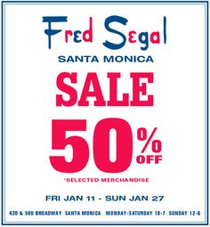 Fred Segal Sale starts this Friday!!