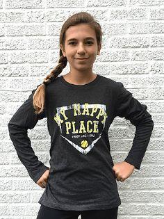 MY HAPPY PLACE softball t shirt