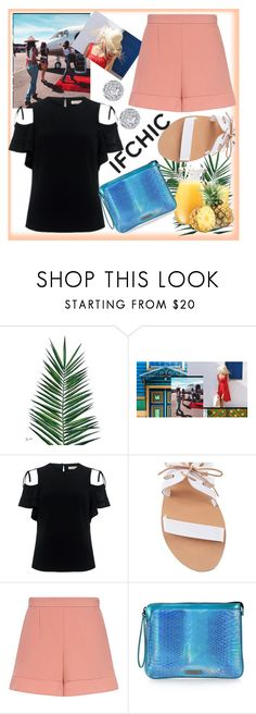 """Trendy Summer"" by westcoastcharmed ❤ liked on Polyvore featuring Nika, TIBI, Ancient Greek Sandals, RED Valentino, Mohzy, Fallon, summersale and ifdhic"