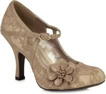 Ruby Shoo - Elsy Gold/Lace Shoes