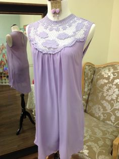Lavender and Lace dress is perrrrrfect for Easter.  The neckline shows just enough skin to be romantic… www.sisterkatesboutique.com