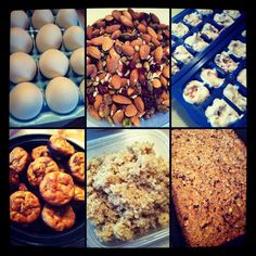 Weekly Food Prep ideas for healthy snacks and meals (lots of ideas, weekly)