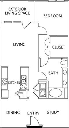 Small Casita Floor Plans | Dallas-TX Bella Casita Apartments Floor Plan