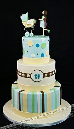 Baby shower cake by Design Cakes, via Flickr