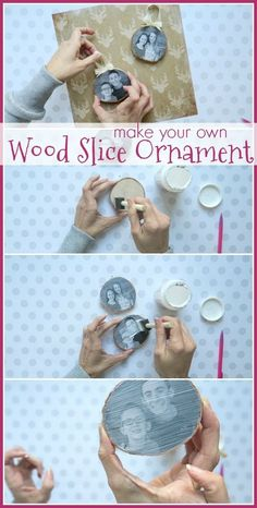 Diy christmas crafts 62206038591553613 - how to make your own Wood Slice Photo Ornament, simple christmas craft idea – Sugar Bee Crafts Source by carlastey Diy Photo Ornaments, Photo Christmas Ornaments, Wood Ornaments, Ornament Crafts, Homemade Ornaments, Personalized Christmas Ornaments, Christmas Decorations, Diy Gifts For Christmas, Christmas Wood