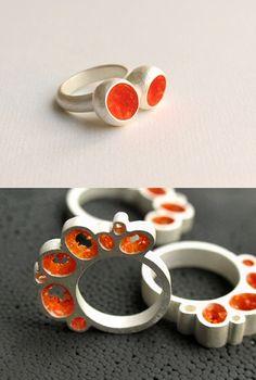 Jewelry | Jewellery | ジュエリー | Bijoux | Gioielli | Joyas | Art | Arte | Création Artistique | Precious Metals | Jewels | Settings | Textures | from Dutch jeweller Margo Nelissen