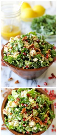 KALE SALAD WITH MEYER LEMON VINAIGRETTE - Joybx