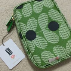"""Cosmetics Case by Orla Kiely Etc for Target Brand new, never used. This case has two zipper pulls. Inside there's a mesh zipper pouch on the left, a mesh zipper pouch divider, and 3 slip pockets on the right side. The outside has some light padding to help protect any delicate cosmetics inside. The exterior feels like a nylon material and is easy to wipe clean. 8"""" x 6"""" x 1.5"""" Orla Keily Bags Cosmetic Bags & Cases"""