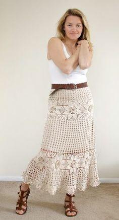 Crochet Skirt ou Crochê Saia.