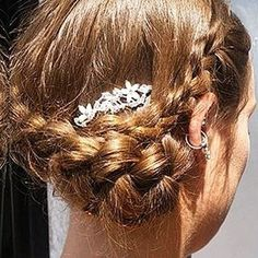 VAIN Salon - 3 locations Seattle.  Wedding Wednesdays! This lovely braided style by @angieatvain is a simply perfect choice for any bride. The tiny flowers are the icing on the cake! #weddingwednesday #vain #vainbeautyworld #seattlestyle #braids #weddinghair #elegant