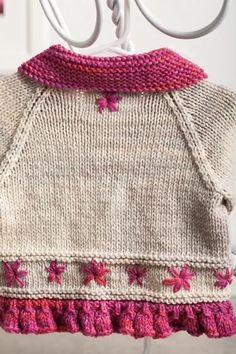 Embroidered Daisy Cardigan - Knitting Patterns and Crochet Patterns from KnitPicks.com