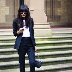 Weekender // tailored suit by @yeojinbae ,bag by @alilathelabel and t-shirt by @bassike ✌️✌#gentlewoman #weekend #nightout