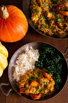 An easy pumpkin curry recipe, full of comforting autumnal flavours. Earthy lentils, leeks and roasted squash with creamy coconut and warming spices. Pumpkin Curry, Pumpkin Squash, Sugar Pumpkin, Curry Recipes, Vegan Recipes, Vegan Meals, Pumpkin Recipes, Fall Recipes, Potato Curry