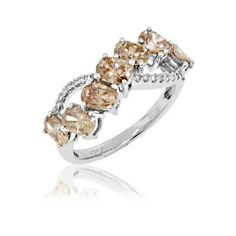 Le vian ring 1 cttw chocolate diamonds 14k strawberry gold for Jared jewelry the loop