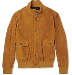 Ami Suede Bomber Jacket | MR PORTER