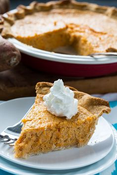 Sweet Potato Buttermilk Pie has a light texture, a little tang, and not too much sweetness. This southern pie is flavored with nutmeg and cinnamon. Fall Desserts, No Bake Desserts, Dessert Recipes, Fall Recipes, Sweet Recipes, Just Pies, Buttermilk Pie, Sweet Pie, Mashed Sweet Potatoes
