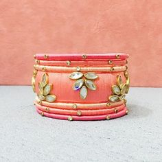Check out these silk thread bangles design like multicolored bangles, handmade bangles, kundan bangles, etc and find the most stylish silk thread bangles for bride. Silk Thread Bangles Design, Silk Thread Earrings, Thread Jewellery, Diy Jewellery, Tassel Jewelry, Kundan Bangles, Silk Bangles, Bridal Bangles, Terracotta Jewellery Designs