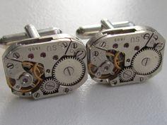 steampunk cufflinks!