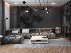 [ Dark Living Room Design Ideas With Sophisticated Decor ] - Best Free Home Design Idea & Inspiration Dark Living Rooms, Interior Design Living Room, Living Room Designs, Living Room Decor, Modern Apartment Decor, Apartment Design, Apartment Interior, Interior Exterior, Interior Architecture
