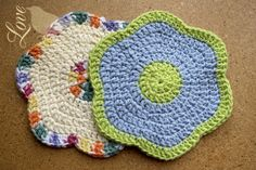 okay, I use crocheted washclothes...but these will look much cuter draped over my sink.  Hooray!