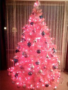 My pink Christmas tree.