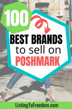 Wondering what the best brands are to sell on Poshmark so you can make the most money? Here are the 100 best brands including women's, men's and kids clothing as well as home items. Learn how you can sell/resell/flip items online. | #makemoneyfast | #fastcash | #reselling | #sidehustleideas Selling Online, Selling On Ebay, Shipping Label Printer, Selling Used Clothes, Get More Followers, Selling On Poshmark, Household Tips, Make Money From Home, True Religion
