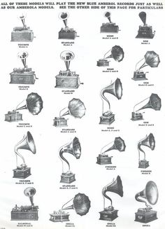 Edison phonographs.