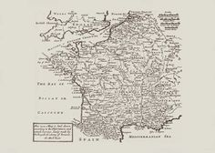 ANTIQUE FRANCE MAP Map of France Antique by EncorePrintSociety