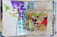 Art Journaling 101: The Many Faces of an Art Journal.  This one is by Dina Wakley.  Kristal Norton's blog shows examples from several other artists.