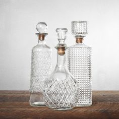 1920s Cut Crystal Decanter Set for Eoin's boozing :)