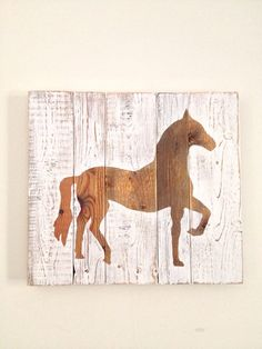 Rustic Horse Painting on Reclaimed Wood by shoponelove on Etsy, $85.00