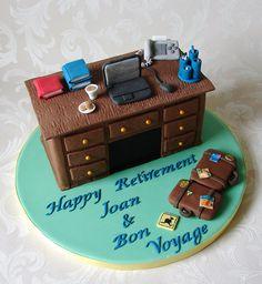 Retirement Cake for School Secretary by RubyteaCakes, via Flickr