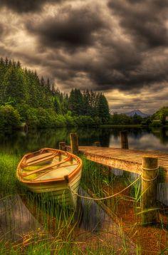 Loch Ard Jetty. Trossachs National Park, Scotland