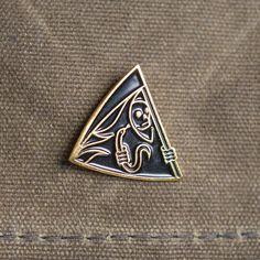 Searching For Zero Grim Reaper Pin, Black & Gold