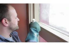 How to Remove Black Mildew From Wood Windowsills : Bathroom Cleaning & More - Modern Mold On Window Sills, Wood Window Sill, Wooden Window Frames, Window Casing, Wood Windows, Wooden Doors, Clean Black Mold, Remove Black Mold, Remove Mold